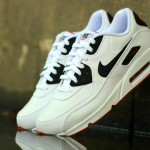 "Nike Air Max 90 Leather ""Black/White/Red"""