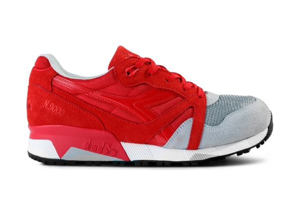 Diadora N9000 Red Grey