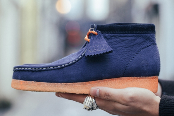 Clarks Wallabee Boot Navy x MF Doom 01