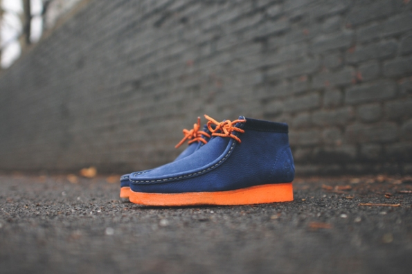 Clarks Wallabee Boot Navy x MF Doom 04