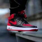 "Nike Air Force 1 Mid ""Black / Gym Red"""