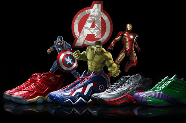 The Avengers x Adidas Basketball Collection 01