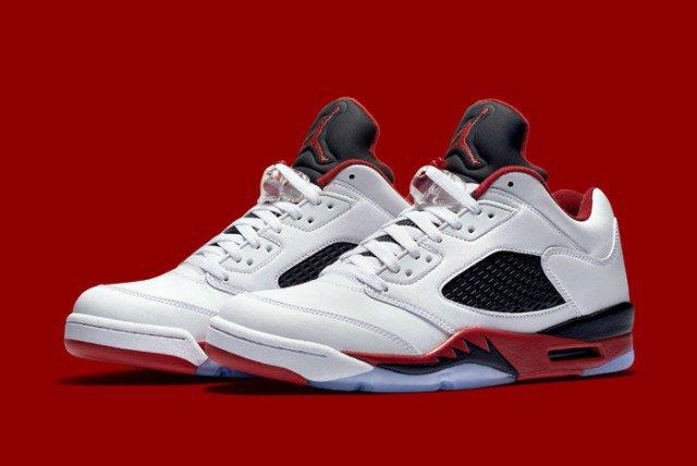 Air Jordan V Low Fire Red 01