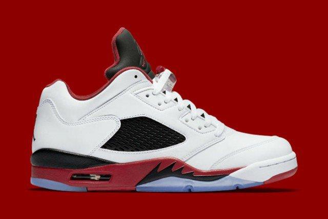 Air Jordan V Low Fire Red 02