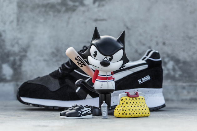 "Diadora N9000 ""Felix the Cat"" x BAIT x Dreamworks 02"