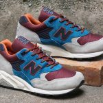 "New Balance 585 ""Blue/Burgundy"""