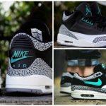 "Nike Air Max 1 & Air Jordan 3 ""Elephant"" x Atmos"