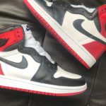 "Air Jordan 1 ""Black Toe"" Satin"