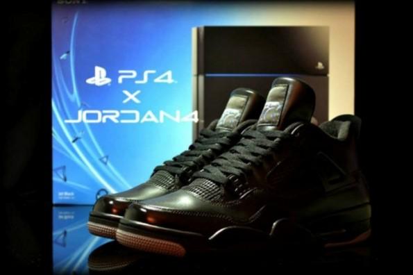 Air Jordan 4 PS4 Custom 01