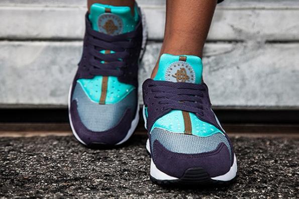 Nike Women Air Huarache Purple Turquoise 02