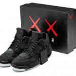 "Air Jordan Retro 4 ""Black"" x KAWS"