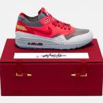 """Nike Air Max 1 """"K.O.D. Solar Red"""" x CLOT"""